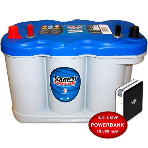 Optima BLUETOP 5.0 : Batterie 12V 66Ah + PowerBank 10000mAh
