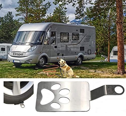 elropet Dog Holder/Camping mit Hund/befahrbarer Ankerpunkt/Bodenanker für Wohnmobil/Wohnwagen aus Edelstahl SEHR STABIL