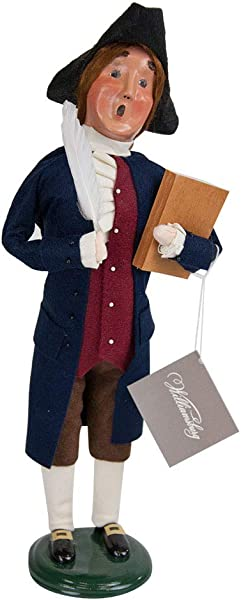 Byers Choice Thomas Jefferson Caroler Figurine ZWM13 From The Historical Collection