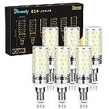 Bombilla LED E14 12W, Equivalente a Lámpara Halógena de 100W, Luz Blanca Fría 6500K, 1200Lm LED Maíz Bombillas, 360° Ángulo de Haz, No Regulable Paquete de 6