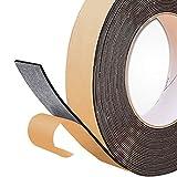 DOUYAO Bande de mousse auto-adhésive de 2 mm d'épaisseur x 25 mm de largeur x 10 m de longueur - Isolation thermique fermée et bande de mousse coupe-vent pour portes et fenêtres en verre.