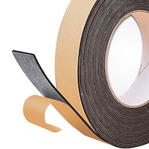 DOUYAO selbstklebender Schaumstoffstreifen, 2 mm (Dicke) * 25 mm (Breite) * 10 m (Länge), geschlossene Wärmedämmung und winddichter Schaumstoffstreifen für Glastüren und -fenster