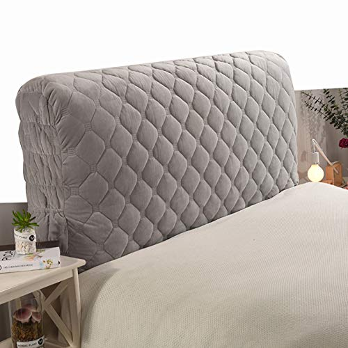 HXHX Thicken Bed Headboard Slipcover Sets, Stretch Bed Headboard Cover, Dustproof Protector Cover for Upholstered Fabric Headboard Gray