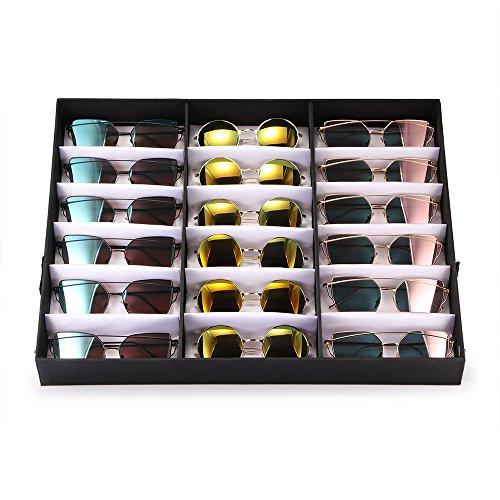 Caja de exhibición de los vidrios, caja de almacenamiento