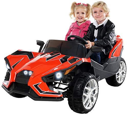 Actionbikes Motors Kinder Elektroauto GT Super Speed JC888 – 4x40 Watt Motor – 2-Sitzer - Eva Reifen – Allrad – Kinderauto (Schwarz)*
