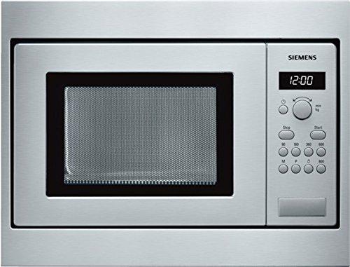Siemens HF15M552 - Microondas de encastre / integrable, 800 W, 18 L, color gris