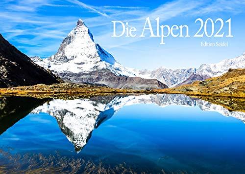 Edition Seidel Alpen Premium Kalender 2021 DIN A3 Wandkalender Berge