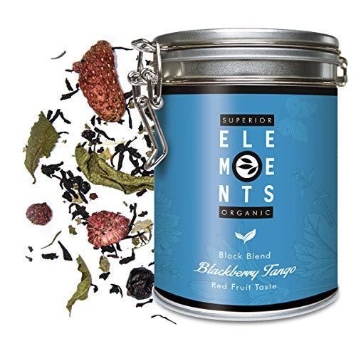 Schwarzer Tee Lose Bio mit Erdbeer-Himbeer-Johannisbeer-Weintrauben Geschmack, Blackberry Tango Dose 100 Gramm (40 Tassen) von alveus Premium Teas