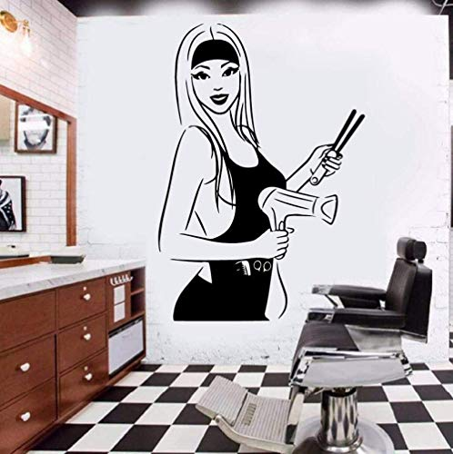 Muurstickers 60X56Cm Beauty Salon Verwijderbare Mode muur Vinyl Art Decals make-up lippenstift Mascara Decal