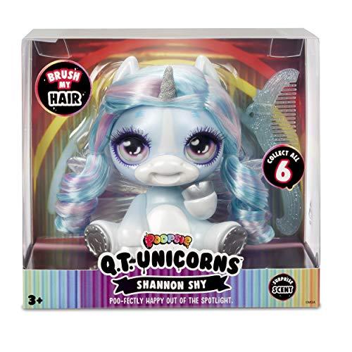 Poopsie - Q.T. Unicornio Shannon Shy con peine, multicolor, 12 cm