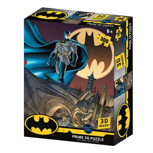 Prime 3D- Redstring - Puzzle lenticular DC Comics Batseñal 300 Piezas (Efecto 3D), Multicolor