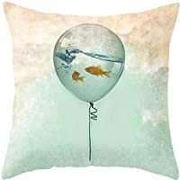 Yoler Pillow Case Decorative Sofa Cushion Satin 17.5x17.5 Inch Bright Color