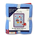 No Sew Fleece Throw Blanket Kit, for 2 Throws or no-sew Crafts