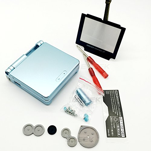 EXSEK Replacement Housing Shell Pack Compatible with Nintendo Gameboy Advance SP (Light Green)