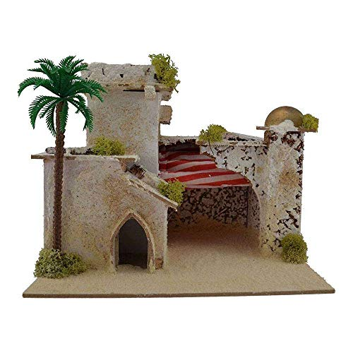 Generic Arab House with Tent and Palm Cm 24x20x19 H