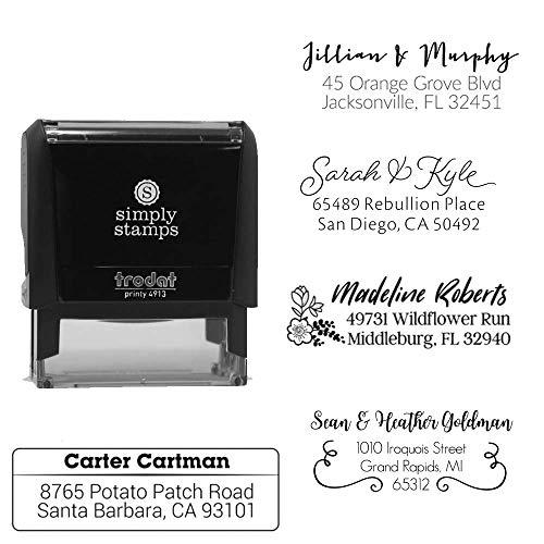 Custom Address Stamps 25 Designs to Choose from! Return Address Stamp Stamper Self Inking Personalized Customized Stamp Return Address Mail