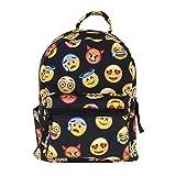 Cute 10 inch mini pack bag backpack for grils children and adult (emoji)