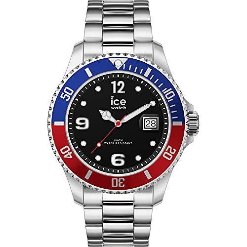 ICE-WATCH Ice Steel United Silver - Reloj Plateado para Hombre con Correa de Metal, 017330 (Extra Large)