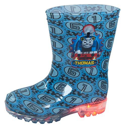 Thomas The Tank Engine Light Up Wellington Boots 7 UK Child Blue