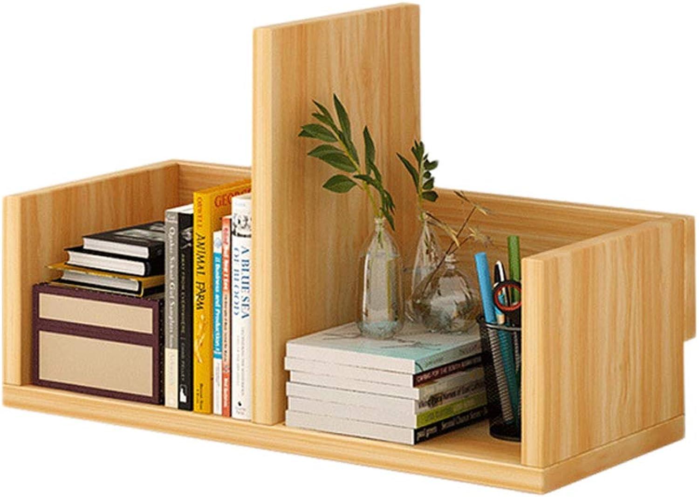 Desktop Storage Rack Bookshelf, Creative Space-Saving Table Simple Rack, Simple Modern Student Combination Small Shelf (color   Wood color)