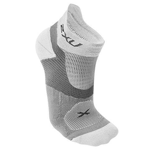 2XU Damen Race VECTR Socken, Damen, weiß/weiß, Large