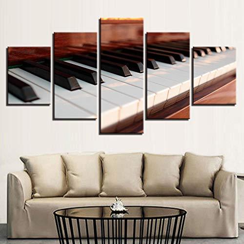 WZXYX Wanddekoration Design Wand Bild Format Wandbilder Wohnzimmer Bild Auf Leinwand Gedruckt 5 Zauber Hause Wandaufkleber Hängen Malerei Inkjet Klassisches Instrument Klavier Dekorative Malerei