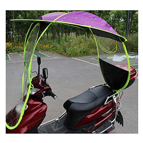 Motor luifel, universele auto motor scooter elektrische motorfiets zonnescherm luifel paraplu volledig gesloten voorruit kunststof