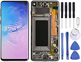 FunAdd LCD Display Replacement Parts LCD Screen and Digitizer Full Assembly with Frame Compatible for Galaxy S10 Mobile Ph...
