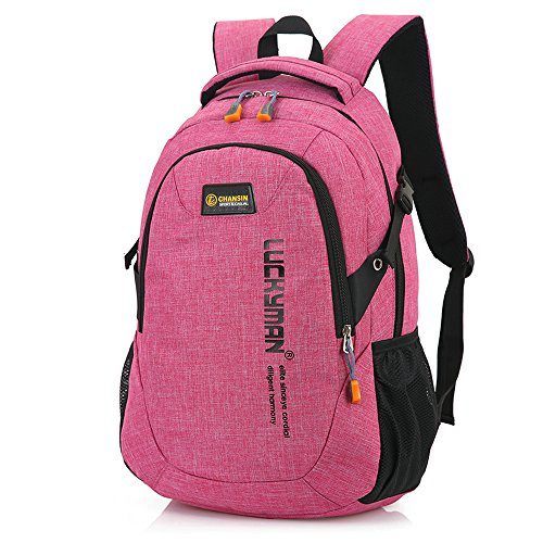 Y6086# Teimose 15.6inch Laptop Bag Business Case Classic Daypack Bookbag Travel Backpack School Bag Rucksack (PINK)