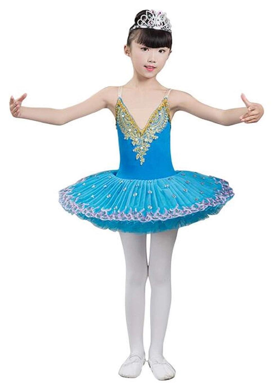 女の子 バレエレオタード 綿 可愛い チュチュスカート 練習着 バレエウェア バレリーナ 体操 発表会 ステージ衣装