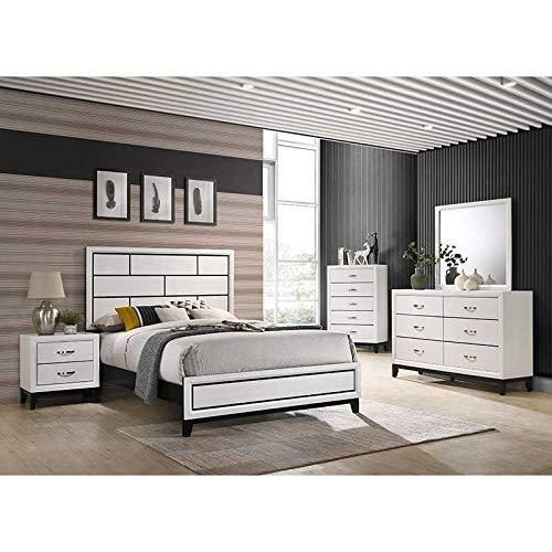 Esofastore Traditionally Styled Panel Bedroom Set Bed Dresser Mirror...
