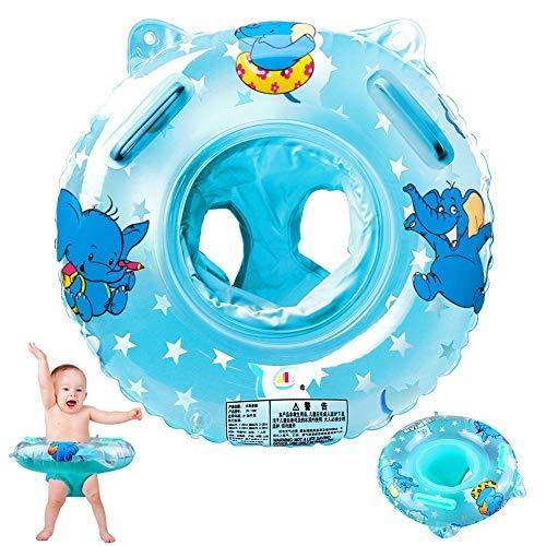 StillCool Salvagente Collo Neonato Gonfiabile Regolabile Salvagente Neonate da 6 a 36 Mesi di Bambini (Blu-1)