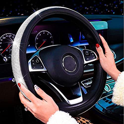 New Diamond Leather Steering Wheel Cover