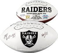 "Fred Biletnikoff Las Vegas Raiders Autographed White Panel Football with""HOF 88"" Inscription - Fanatics Authentic Certified"