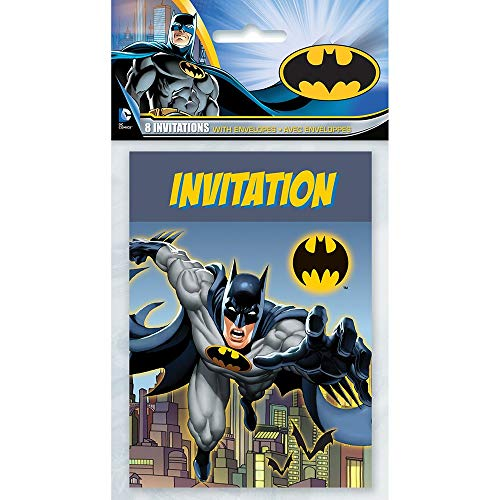Unique Party 49914 - Batman Partyeinladungen, 8 Stück