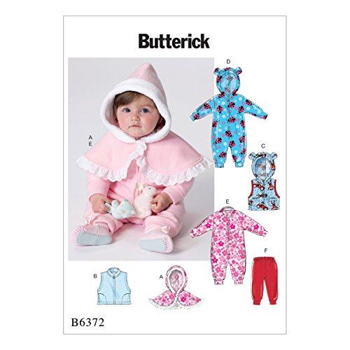 Butterick Patterns Butterick Muster 6372YA5Kleinkinder Cape Weste Wimpelkette und Hose, mehrfarbig, Größen nb-xl
