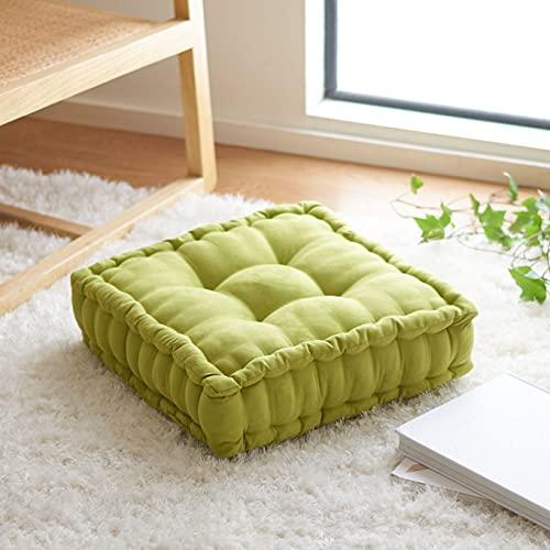 Safavieh Home Collection Gardenia 18-inch Yellow Velvet Square Floor Pillow FLP1002F, 1 Count (Pack of 1)