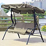 Garden Swing Cushion Cover Swing Seat Cover for 3 Seat Chair Garden Swing Cover Hammock Swing Seat Covers Waterproof Dust Proof Sun Proof