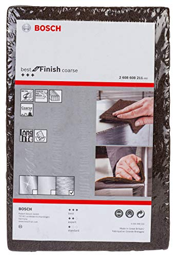 Bosch Professional Schleifvlies Best for Finish Coarse (Feinheitsgrad: grob, 152 x 229 mm, Zubehör Handschleifen)