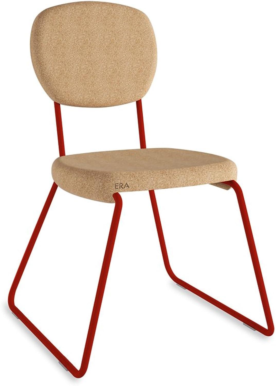 Grüncorks, War Stapelsessel, rot in Kork Blond. Maße Sitzfläche  45 x 47 x 86 cm B07BYTWK7Z | Sonderaktionen zum Jahresende