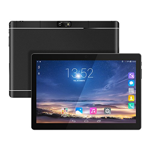 10.1' Inch Google Android Tablet, Android 7.0 Phablet Tablet Quad Core Pad with Dual Camera, 1GB Ram+16GB Disk, Wifi, Bluetooth, 1280x800 HD IPS screen, Google Play