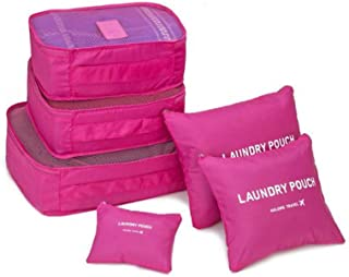 Organizador De Mala Bolsa Kit 6 Peças Para Viagem (Pink)