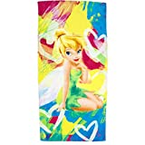 Jay Franco Disney Fairies Tinkerbell Beach Towel 28x58-100% Cotton (Paint)