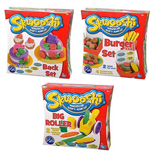 Skwooshi Kinder Soft Knete Set Knetmasse Kinderknete Modelliermasse Softknete Spielknete Kindersoftknete