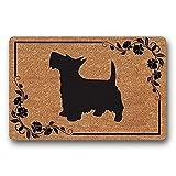 YUZE 40X60 cm Entrance Floor Mat Funny Doormat Scottish Terrier Dog Door mat Decorative Indoor Outdoor Doormat Non-Woven Fabric Home Decoration Gifts Housewarming Gift Customizable