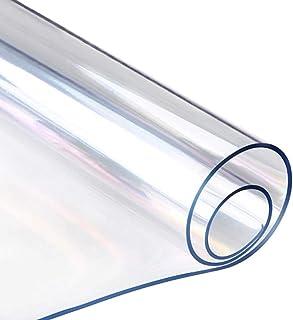 WUZMING 1,6mm De Espesor Mantel Transparente PVC Impermeable Protector De Mesa Usado como Mantel Restaurante Mesa De Café ...