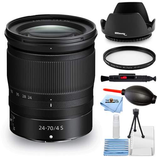 Nikon NIKKOR Z 24-70mm f/4 S Lens 20072 - Essential Bundle with Tulip Hood Lens, UV Filter, Cleaning Pen, Blower,...