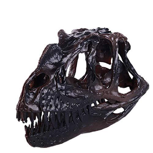Resina Cráneo del Dinosaurio Modelo Decoración, simulado Realista Hecha a Mano de los cráneos de Juguete Monolophosaurus Animal for la Seguridad del Kids' Ciencias de la Educación Juguetes WTZ012