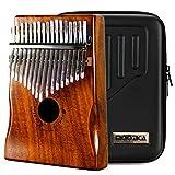 Moozica 17 teclas Kalimba, piano marimba de pulgar de madera de tono sólido de alta calidad con estuche protector e instrucción de aprendizaje (Acacia Koa-K17K) (Varios)