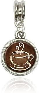 Made On Terra Coffee Cup Euro European Italian Style Bracelet Bead Charm